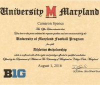 Maryland Terps scholarship offer