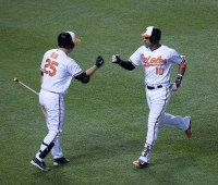Hyun Soo Kim and Adam Jones - Baltimore Orioles
