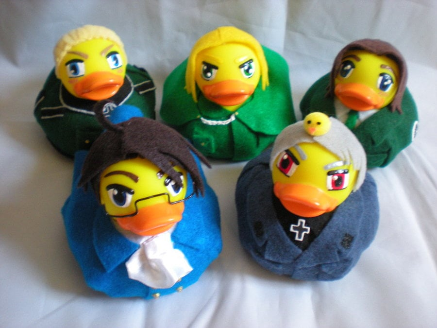 Germany, Austria, Lithuania, Poland, Prussia ducks. By Oriana Mys, Japan