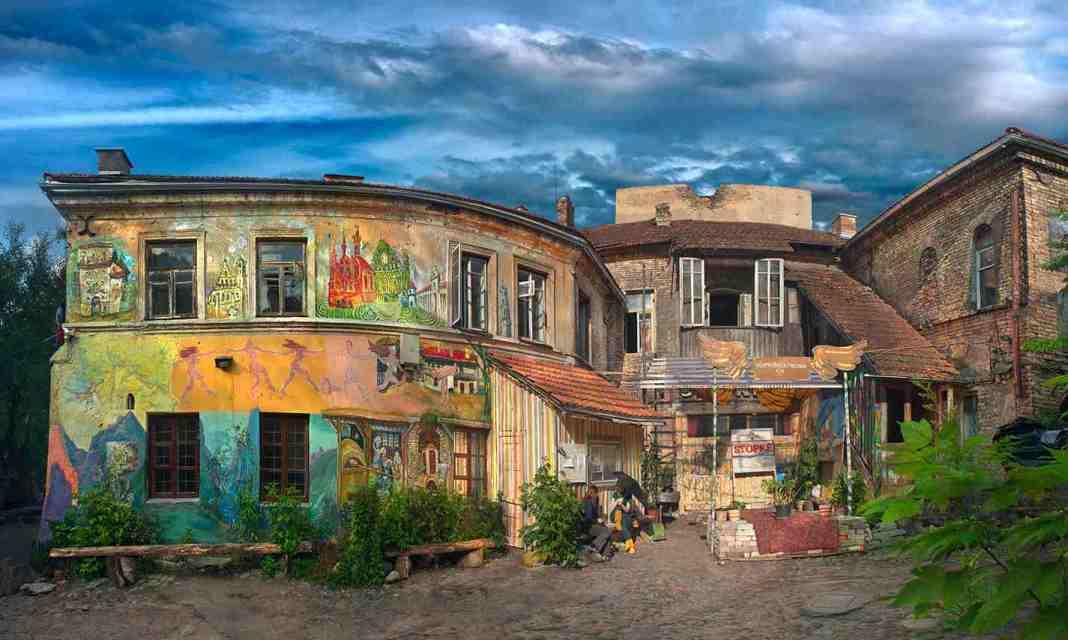 Der Bezirk Užupis der Vilniusser Altstadt steht auf der Liste des UNESCO-Welterbes