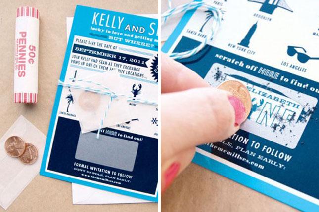 desain undangan pernikahan seperti kupon