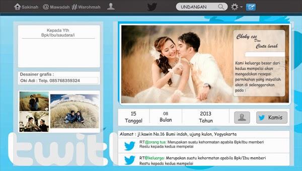 desain undangan pernikahan twitter