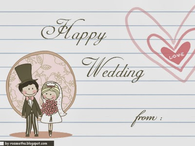 Ucapan Happy Wedding buat sahabat kecil