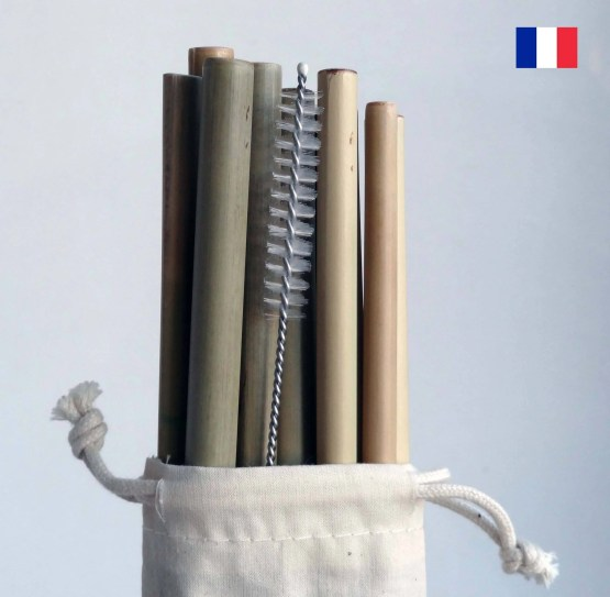 lot de pailles bambou made in france