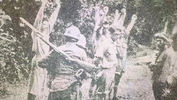 Foto: Pelucutan Tentara Belanda oleh Tentata Jepang di Balikpapan (sumber: istimewa)