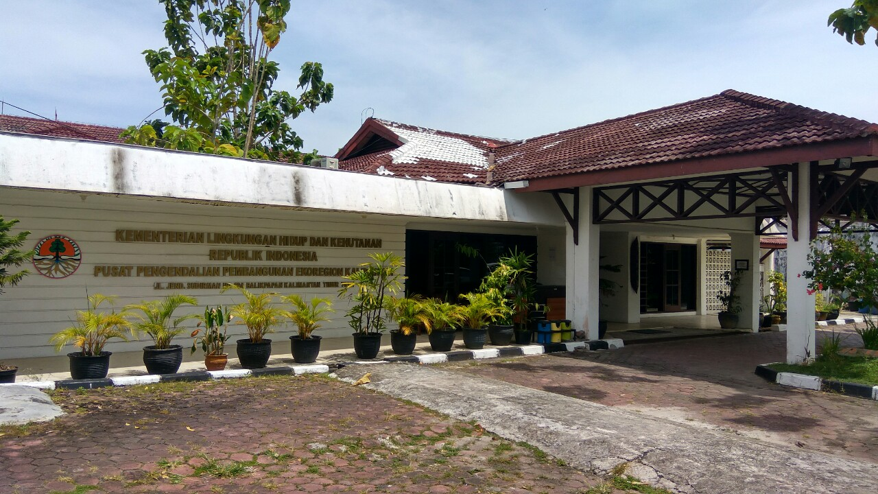Gedung kantor Pusat Pengendalian Pembangunan Ekoregion Kalimantan Kementerian Lingkungan Hidup dan Kehutanan RI