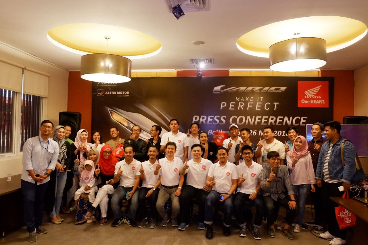 Press Conference Launching All New Honda Vario di Balikpapan