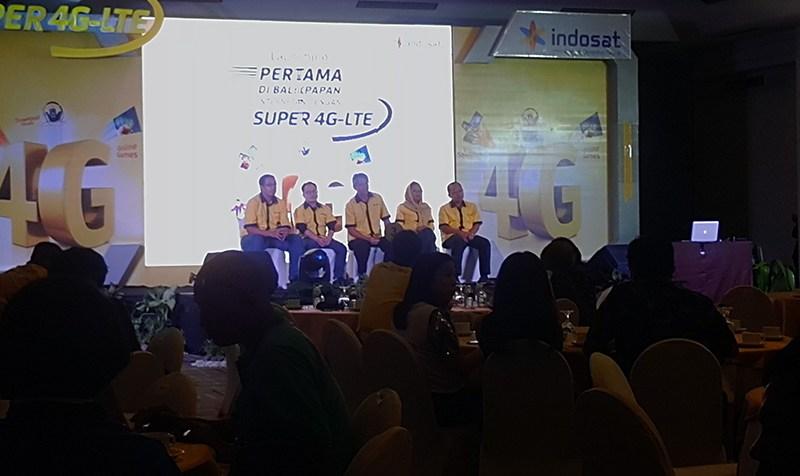 Launching Indosat Super 4G-LTE di Balikpapan