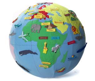 Giant World Globe plus 180 Motifs