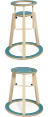 Turquoise Rinki Highchair by Seimi