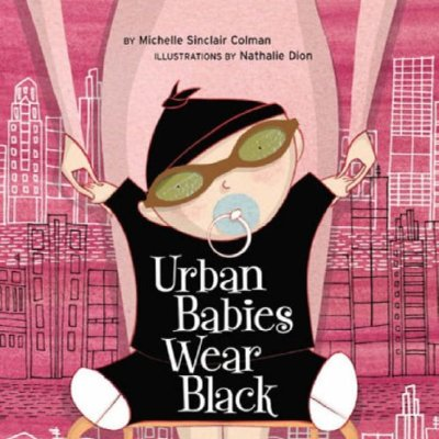 'Urban Babies Wear Black' Board Book
