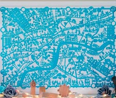 Paper Cut Map Prints by Famille Summerbelle