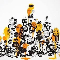 Jon Burgerman Wall Stickers