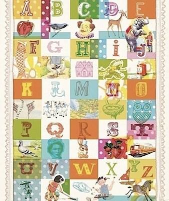 Lovely Sweet William Alphabet Art Print