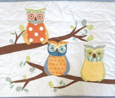 Bespoke Patchwork Owl Quilt