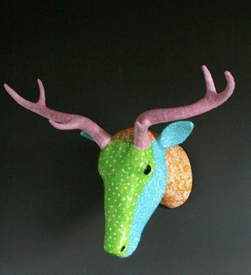 Papier Mache Stags Heads by Rice.dk