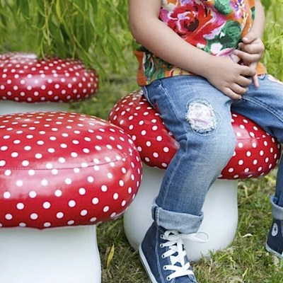 Toadstool Seating at Cox and Cox
