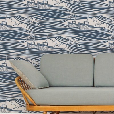 Hello 'Whitby'! New Nautical Wallpaper by Mini Moderns