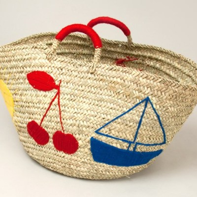 Bobo Choses straw toy basket