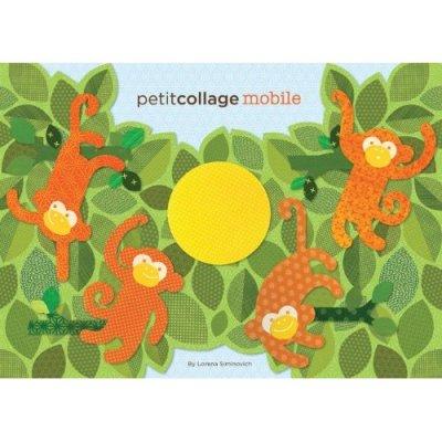 Petit Collage cardboard monkey mobile