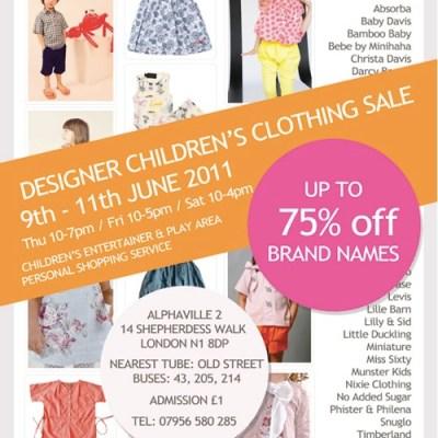 Junior Style Sale Event London June 9th-11th