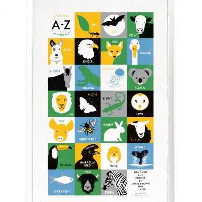 James Brown animal alphabet at Pedlars