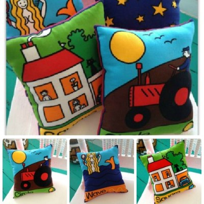 Vintage Jan Pienkowski Cushions