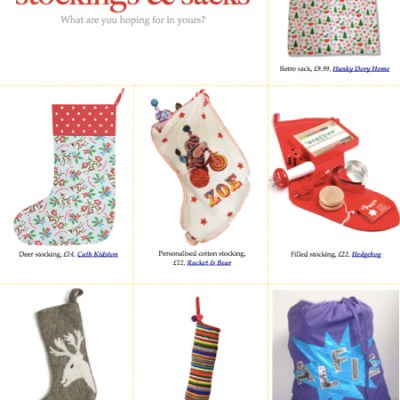 BG Christmas Gift Guide: stockings & sacks