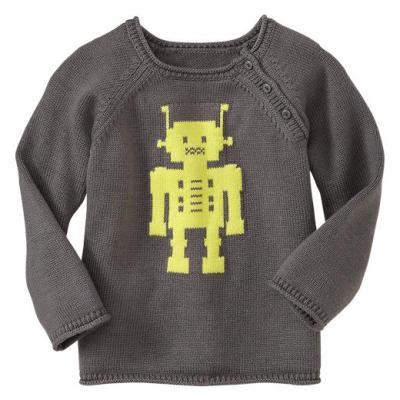Hot on the high street: Gap neon robot sweater