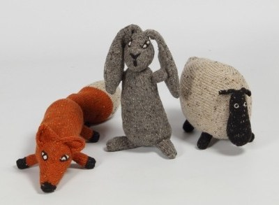 Claire-Anne O'Brien Irish Animals knitted toys