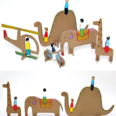 Make Your Own: Wooden Peg Dolls & Cardboard Animals