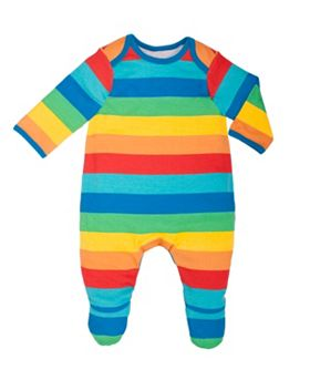 Hot on the high street: Boots rainbow striped babygro