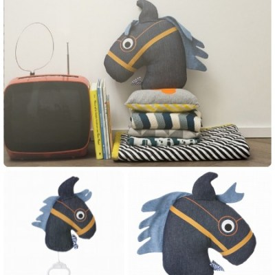 New at Ferm Living: horse mobile and XL cushion