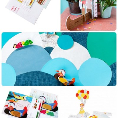 Kids on Roof pop up cards