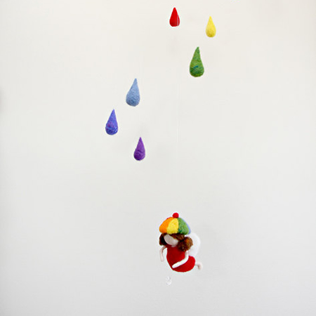 Magic Wool Rainbow-rain Gnome