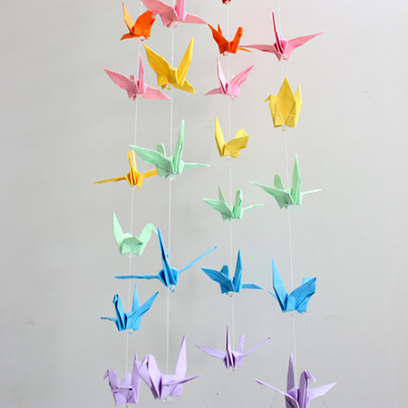 My Love Camp Origami Paper Crane Mobile