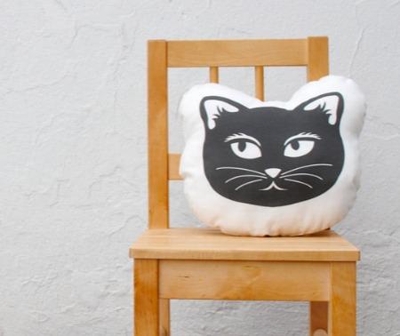 Sewn Natural - Cat Cushion
