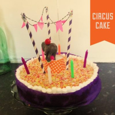 Cakespiration: Circus birthday cake
