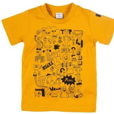 Hot on the high street: colourful cartoon Polarn O. Pyret tee