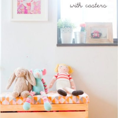 Make Your Own: Toy box with casters