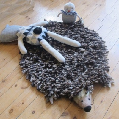 Herby Hedgehog rug by Sew Heart Felt