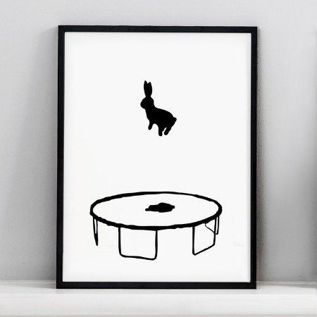 Bouncing Bunny Print