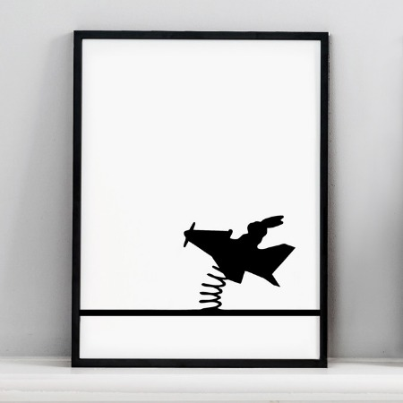 Flying Rabbit Print