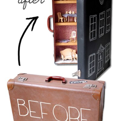 Make Your Own: Upcycled Suitcase Doll's House