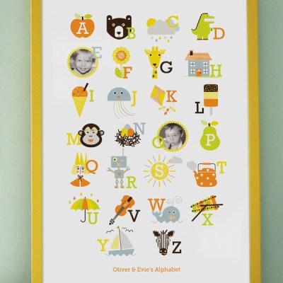 Free Your Photos personalised alphabet