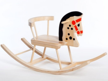Wooden Rocking Horse Featured On Bambino Goodies