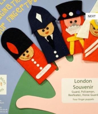 Pearl Mason London Souvenir Finger Puppets