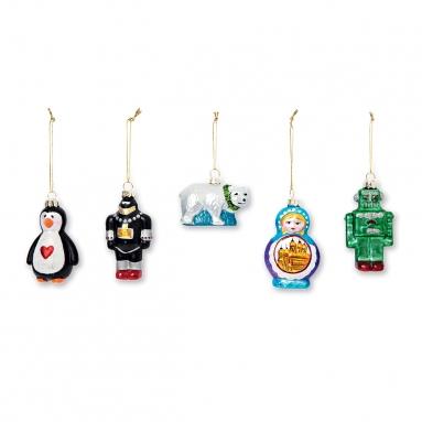 Tiger Stores glass ornaments