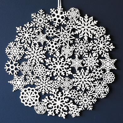 Rockett St George wooden snowflake
