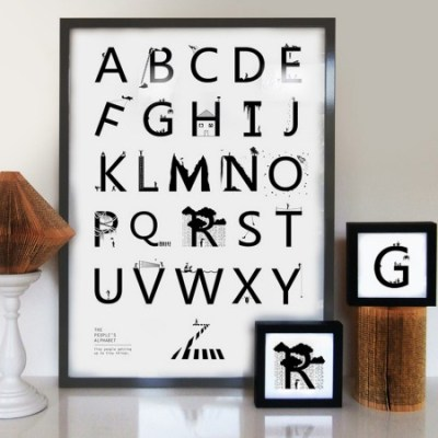 Eleanor Stuart little people alphabet print